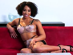 Nice kinky interview with lovely looking black porn actress Lala Ivey