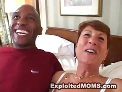 horny full-grown granny takes BBC in interracial hardcore deception