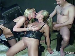 Two German Dominas Close to Femdom Have Lovemaking With Will not hear of Slave Close to Dom - (PORN MOVIES)