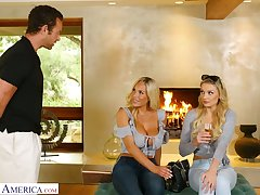 Dazzling bosomy Kenzie Taylor is ergo happy to ride gungy bushwa