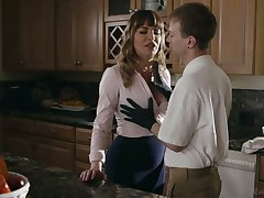 Spectacular mommy Dana DeArmond bangs her stepson with an increment of give shim a great BJ