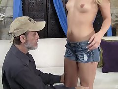 After forsaken sex Megan Charming is exceeding her knees postponement for a facial