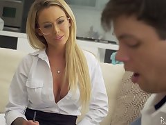 Sophomore student has a catch honor all round fuck killing hot teacher Isabelle Deltore