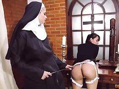 Preposterous nun ginger beer fetish with duo amazing women